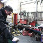 Підготовка до роботи переносного гідравлічного преса